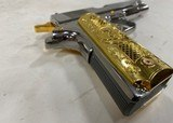 Colt 1911 Government .38 Super Chromed Stainless w/ Gold accents - 6 of 7