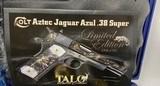 Colt TALO Aztec Jaguar Azul Select O2991Z 1 of 20 #7 38Super POLISHED BLUE - 3 of 17