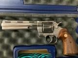 "Colt Python 357 mag Nickel 6"" 1982 Python"