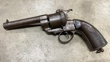 French 12mm Pinfire Revolver - From 1856 - Good Action!