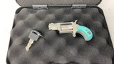 North American Arms NAA Mini Revolver LaserLyte Tactical Teal 22 LR