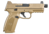 FN 509 TACTICAL 9MM FDE 24+1 NIGHT SIGHTS THREADED 509T 66-100373