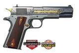 Colt 1911 Heritage 38 Super Stainless Steel Engraved O1911C-SS38-DHM