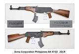 Arms Corporation Phillippines AK 47/22 .22LR