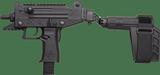 IWI Uzi Pro Pistol w Side folding Brace ThreadedUPP9SB-T