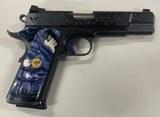 Wilson Combat Custom Engraved CQB Elite 45 ACP Mamoth Grips Gold Trim