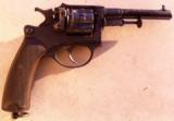 WWI FRENCH ARMY 1892 SERVICE REVOLVER & LEATHER HOLSTER & 18 ORIGINAL AMMUNITIONS