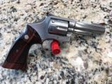 S&W MODEL 66 NO DASH, 4 IN, STAINLESS, 357 MAG, 2 SET FACT GRIPS, MFG 1973, COLLECTOR REVOL
