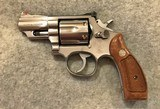 SMITH & WESSON 66-2 STAINLESS 2 1/2 IN BRL 357 MAG REVOLVER