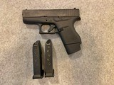 glock 43 with 3 magazines 9mm