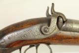 Antique Scottish Robert Ancell Double Barrel Percussion Pistol 1833-1861 Perth Scotland