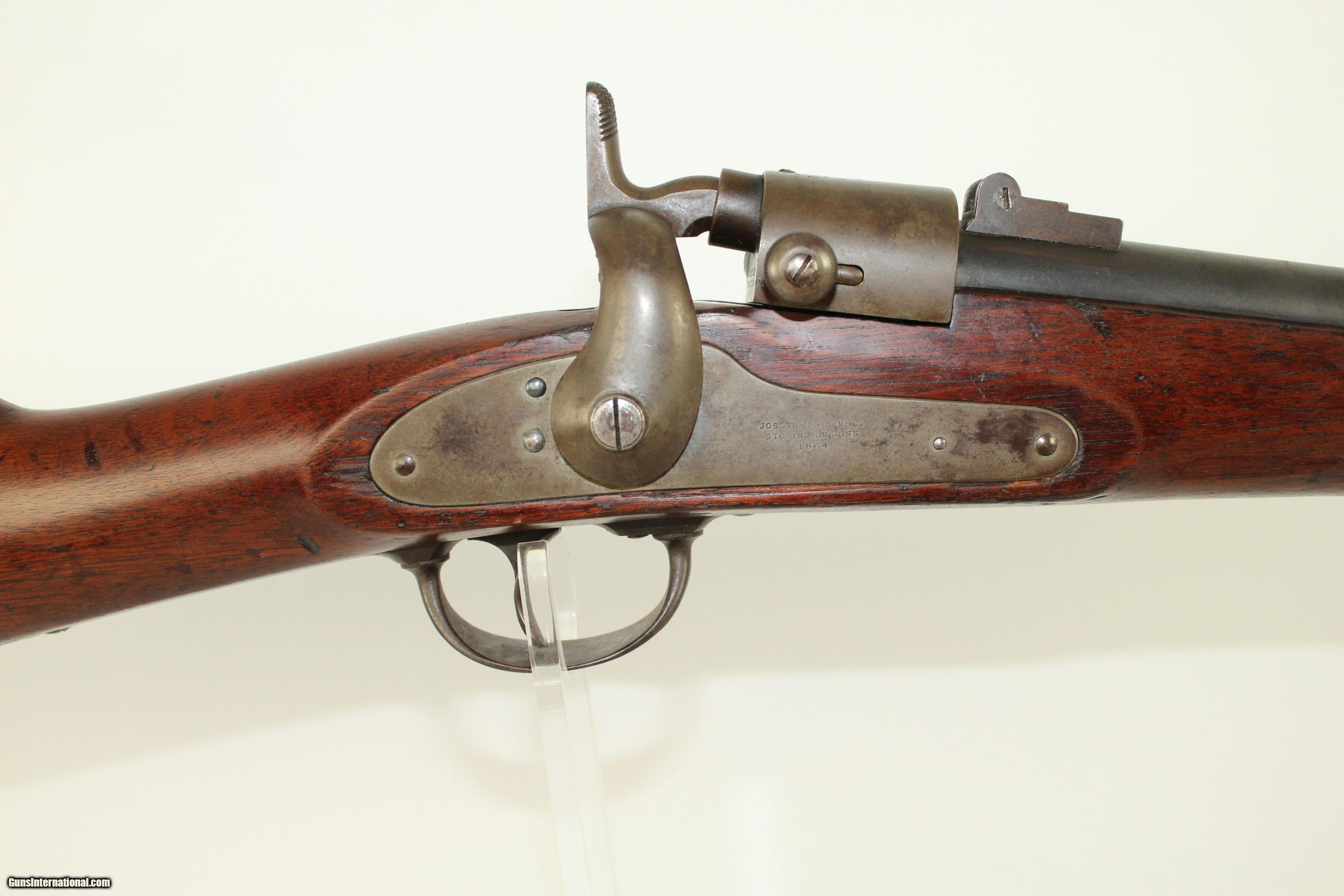 CIVIL WAR Antique Saddle Ring Joslyn Cavalry Carbine with Initials