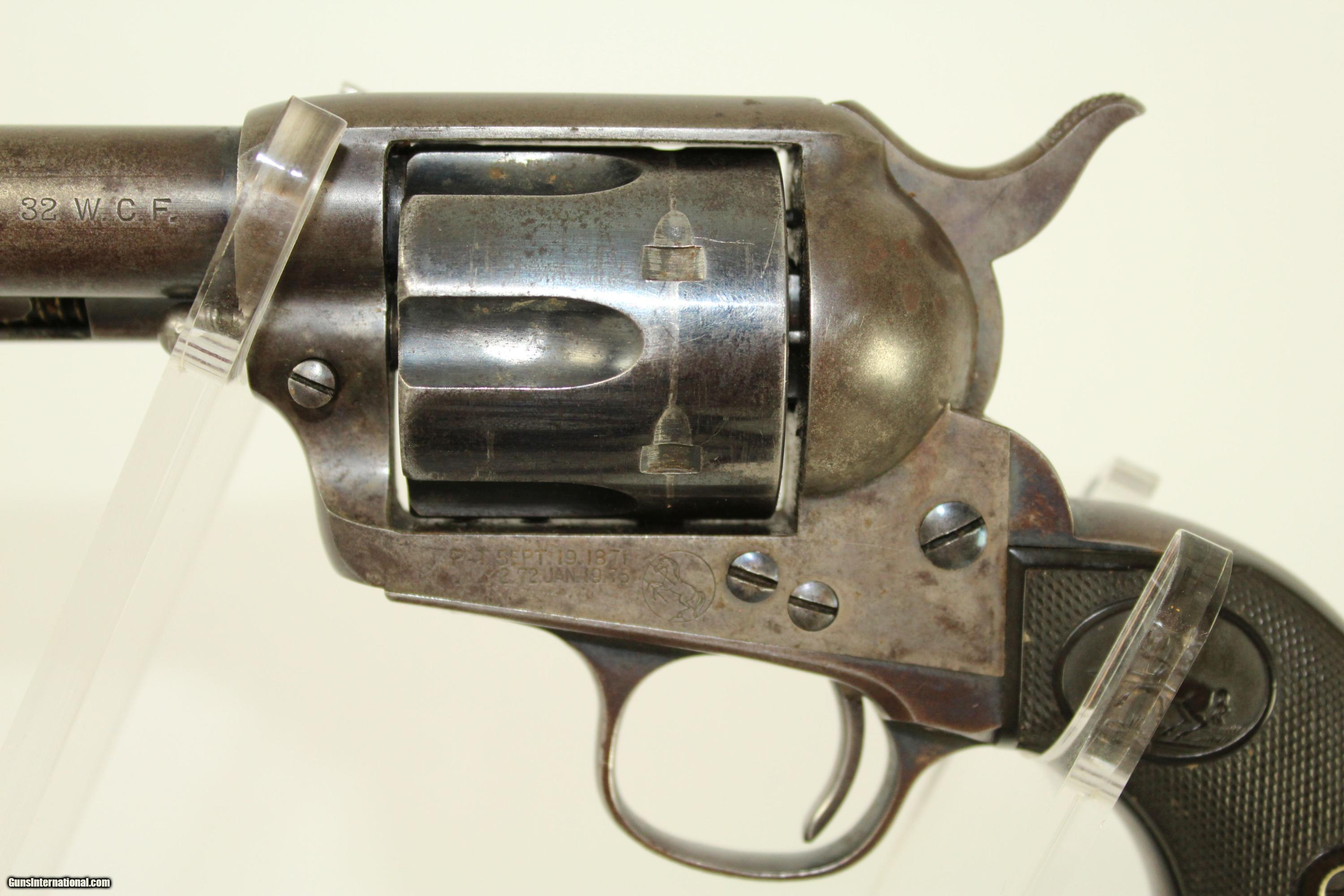 """... SCARCE 1897 """"Transitional"""" .32-20 Peacemaker Colt Single Action Army  Revolver with ..."""