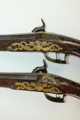 AGE of REVOLUTION Pair of Large Antique Western European Pistols