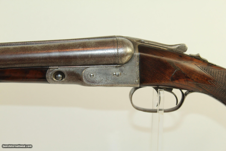 Antique Parker Engraved GH Double Barrel Shotgun