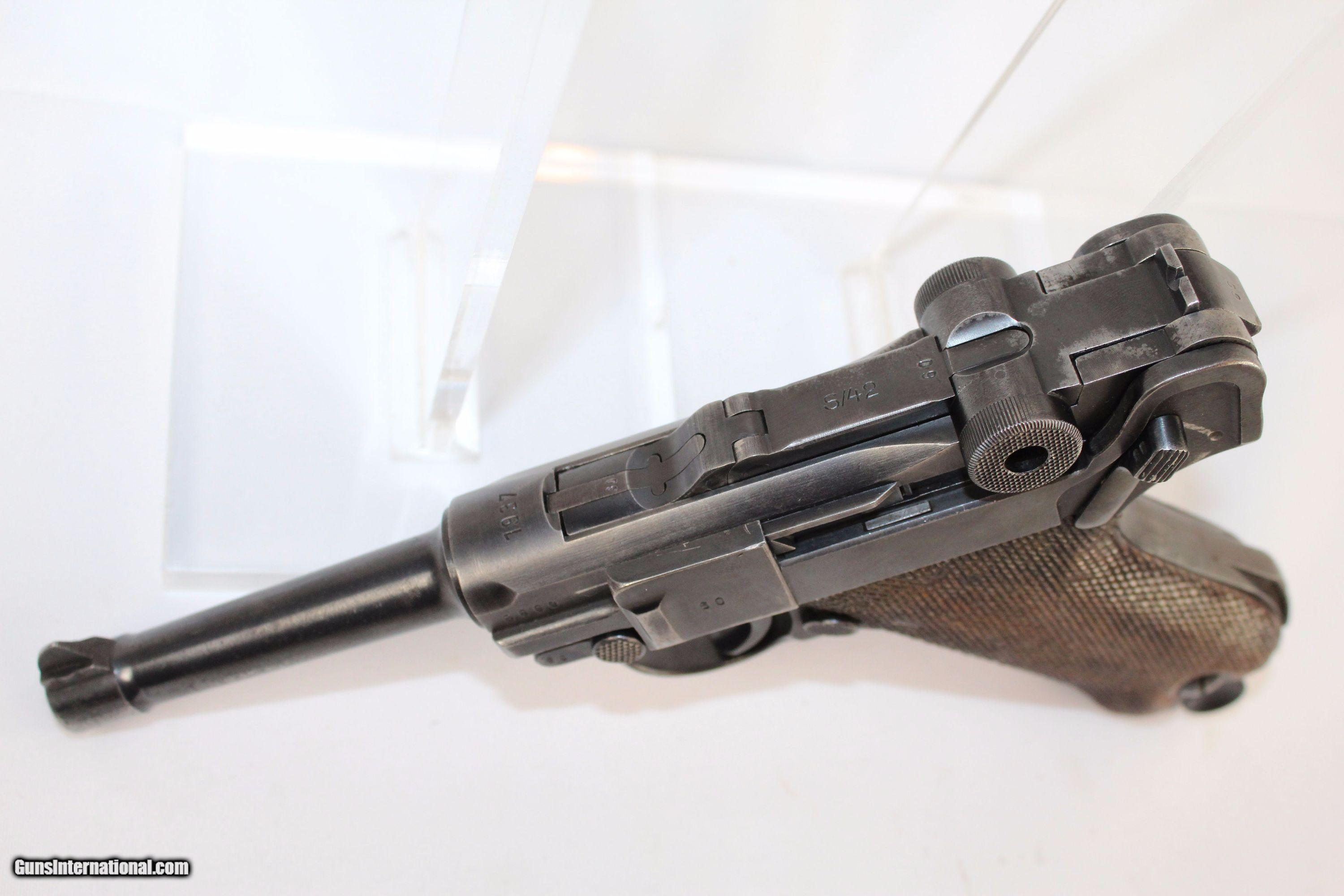 """1937"""" Dated WWII MAUSER S/42 Code Luger Pistol"""