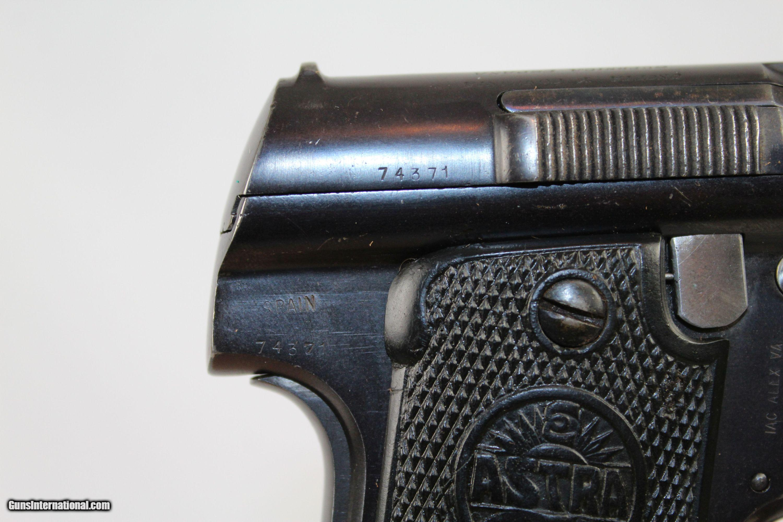 SPANISH CIVIL WAR-era Astra Mod  1921 (400) Pistol