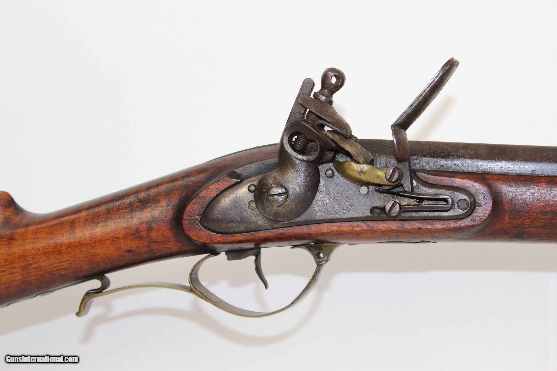 "1830s Antique ""LONDON"" Marked Flintlock FOWLER"