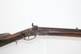 Maker Marked ANTIQUE Percussion AMERICAN LONG RIFLE
