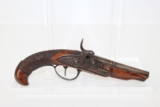 FRENCH Antique DERINGER-Style Percussion Pistol