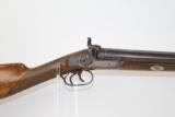 ENGRAVED Antique BELGIAN Double Barrel Shotgun