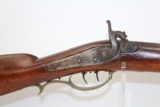 Antique HALF-STOCK Percussion Long Rifle in .40