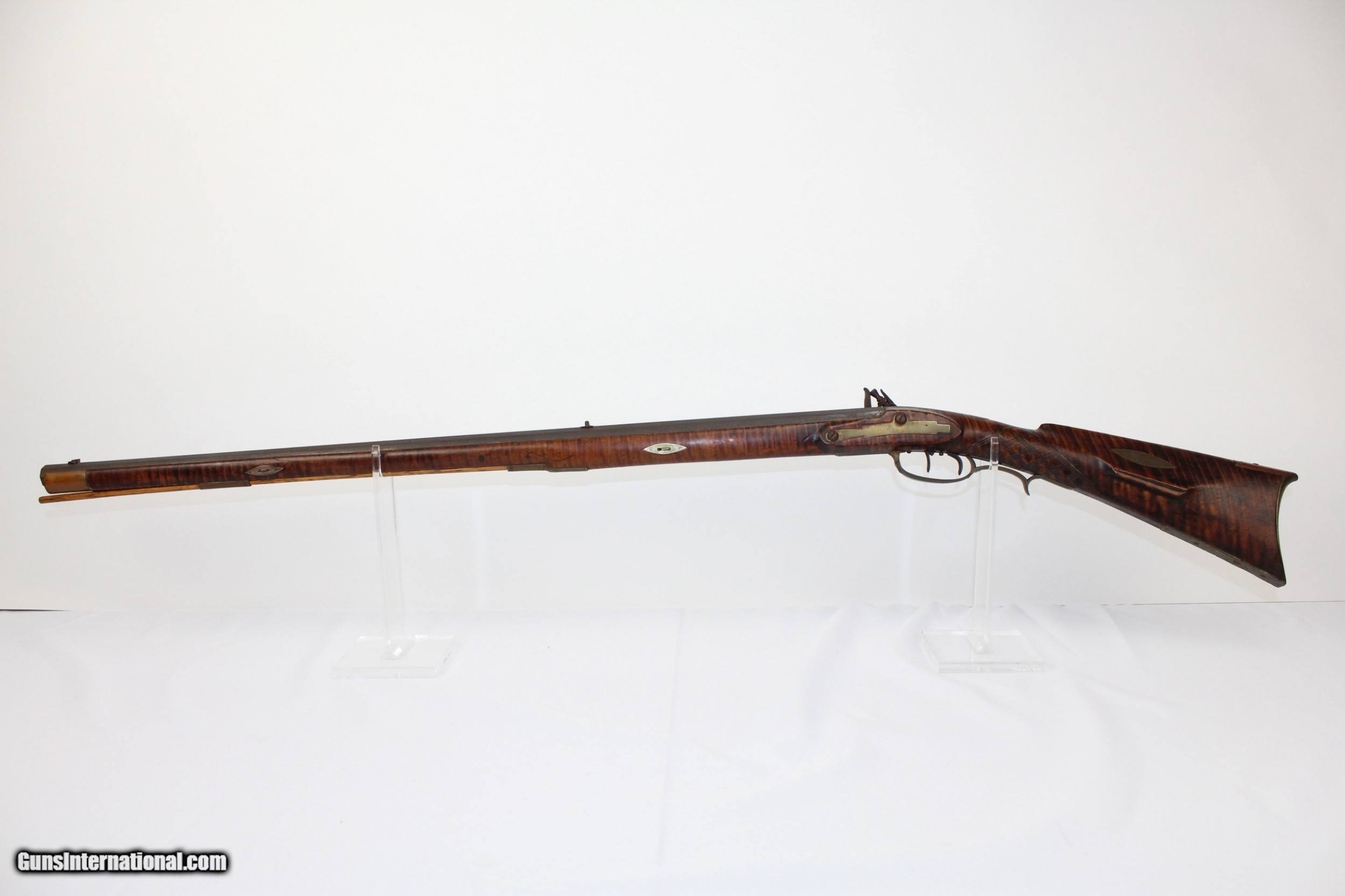 Pa State Inspection >> LANCASTER Antique HENRY GIBBS Flintlock PA Rifle