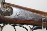 ENGRAVED Belgian SxS Back Action PINFIRE Shotgun - 7 of 16