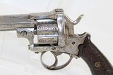 BELGIAN Antique Engraved 9mm PINFIRE Revolver - 3 of 14