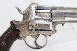 BELGIAN Antique Engraved 9mm PINFIRE Revolver - 13 of 14