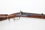 HEAVY BARREL Antique PLAINS Rifle in .50 CALIBER