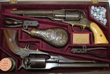 CASED Pair of Antique REMINGTON ARMY-NAVY Revolver