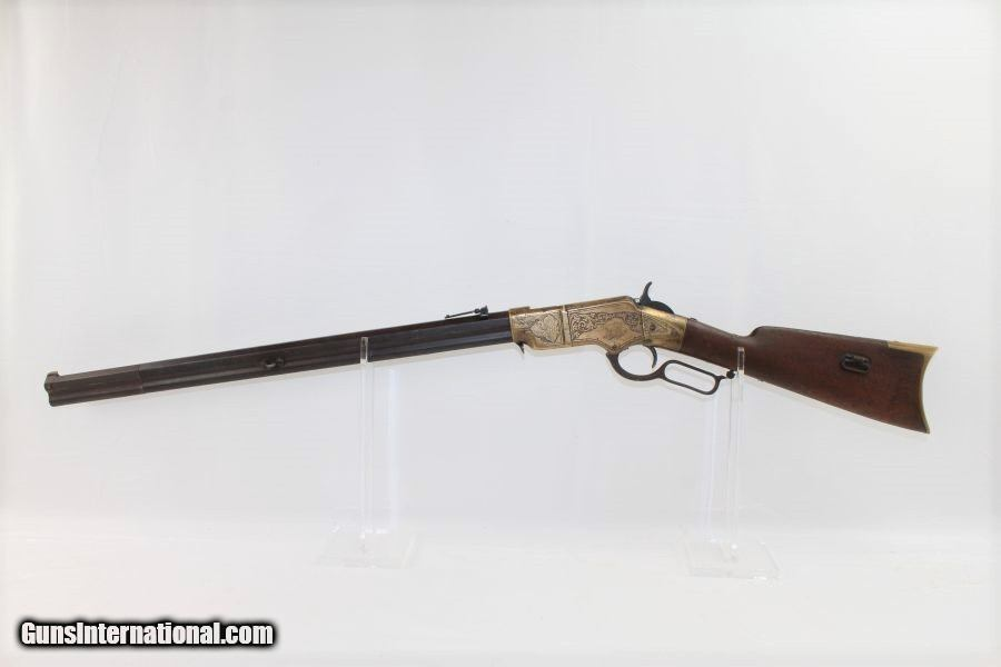 Engraved NEW HAVEN ARMS HENRY Lever Action Rifle for sale
