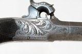 CASED & Nicely ENGRAVED Antique JOHN MANTON Pistol - 10 of 19