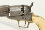 """Antique COLT 1848 BABY DRAGOON """"Pocket"""" Revolver Scarce Revolver Made 1848 w ANTIQUE IVORY GRIPS! - 3 of 16"""