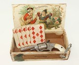 ENGRAVED, NICKEL & PEARL Antique HOPKINS & ALLEN With Antique Card Shark Set!