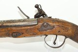 SMALL, ORNATE Antique Flintlock BLUNDERBUSSCarved & Wire Inlaid Circa the 19th Century - 15 of 16