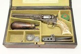 SCRIMSHAW IVORY Colt 1849 Belonged to SEA CAPTAIN