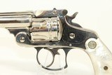 Very Fine SMITH & WESSON 38 Revolver w HOLSTER! Nickel & Pearl Antique S&W Circa 1884 - 6 of 20