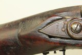 """Heavy Barreled MOLL """"Over the Log"""" FLINTLOCK Rifle Peter & David Moll Marked Rifle with British TOWER Lock - 9 of 21"""