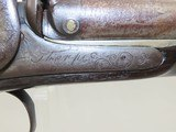 ENGLISH Antique Double Barrel Side by Side PERCUSSION HAMMER Shotgun - 13 of 19