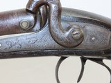 ENGLISH Antique Double Barrel Side by Side PERCUSSION HAMMER Shotgun - 6 of 19