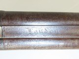 ENGLISH Antique Double Barrel Side by Side PERCUSSION HAMMER Shotgun - 9 of 19