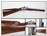 CARVED & ENGRAVED Antique FLINTLOCK .55 Carbine