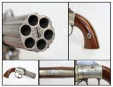 ENGRAVED Antique DURS EGG Pepperbox Revolver