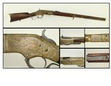 Antique Ulrich Engraved Winchester Model 1866 Lever Action Rifle Inscribed to Noble Spanish Family