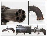 BRITISH Antique Single Action PEPPERBOX Revolver