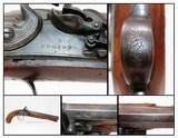 Antique Engraved EDGSON English FLINTLOCK Pistol