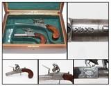 BRACE of Antique Cased W. BOND FLINTLOCK Pistols