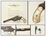 LETTERED, ENGRAVED S&W No. 3 .44 RUSSIAN Revolver Sent to Hartley & Graham, Engraved w Pearl Grips!